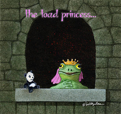 Painting - Toad Princess... by Will Bullas