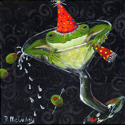 Glass Art Painting - Toadally In Glass by Debbie McCulley