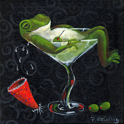 Toadally Under The Influence Art Print by Debbie McCulley