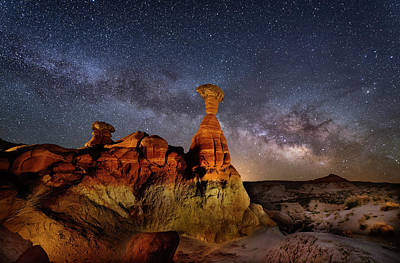 Photograph - Toadstool Milky Way by Michael Ash