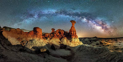 Photograph - Toadstool Milky Way Pano by Michael Ash