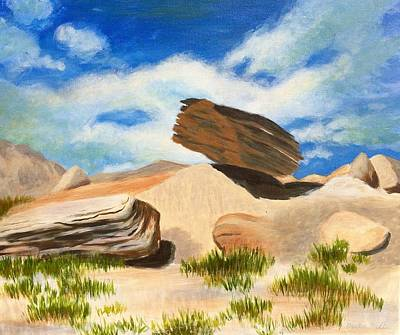 Painting - Toadstool Park Nebraska by Dustin Miller