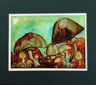 Toadstools Original by Barbara Remensnyder