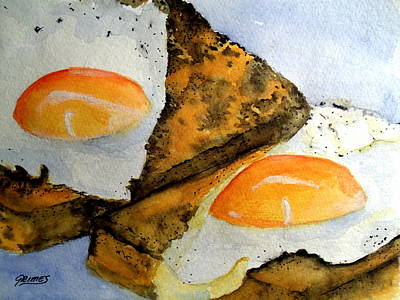 Painting - Toast And Eggs by Carol Grimes
