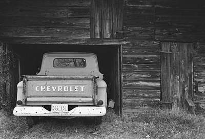 Tobacco Barn Chevy Art Print