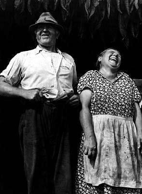 Photograph - Tobacco Farmers Near Windsor Locks Conn.1940 by Jack Delano Presented by Joy of Life Art