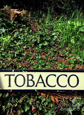 Photograph - Tobacco Sign by Tom Gowanlock
