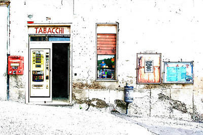 Painting - Tobacconist by Giuseppe Cocco