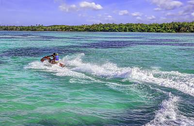 Ski-scape Photograph - Tobago Ride by Nadia Sanowar