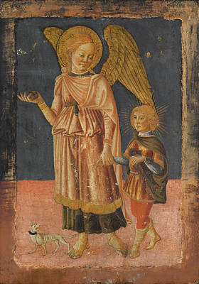 Painting - Tobias And The Archangel Raphael by Neri di Bicci
