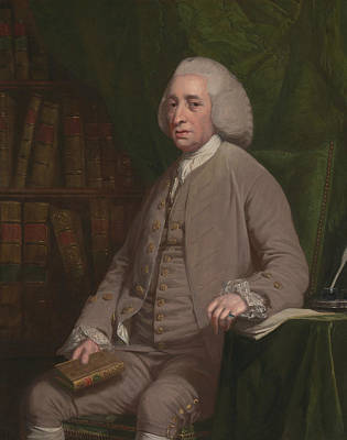 Nathaniel Painting - Tobias Smollet by Nathaniel Dance