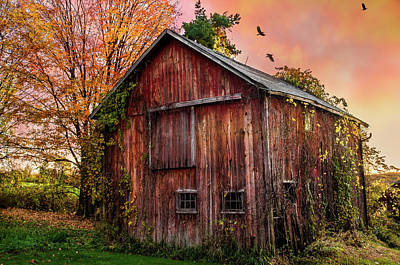 Kent Connecticut Photograph - Tobin's Vintage Countryside Barn by Thomas Schoeller