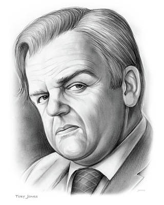 Drawing - Toby Jones by Greg Joens