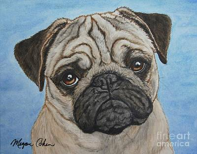 Wall Art - Painting - Toby The Pug by Megan Cohen