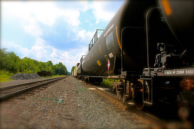 Photograph - Tobyhanna Freight Train by Iconic Images Art Gallery David Pucciarelli