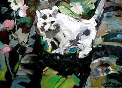 Painting - Toby's Apple Tree by Pauline Hauder