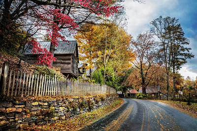 Cabin Wall Photograph - Toccoa River Road by Debra and Dave Vanderlaan