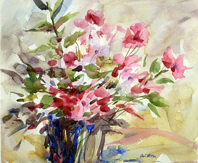 Painting - Today's Flowers by Carl Whitten