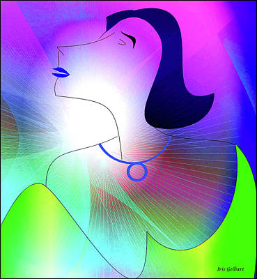 Digital Art - Today's Woman by Iris Gelbart