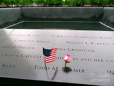 Digital Art - Todd Beamer 9-11 Hero by Ed Weidman