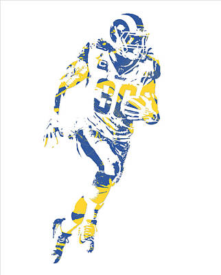 Mixed Media - Todd Gurley Los Angeles Rams Pixel Art 30 by Joe Hamilton