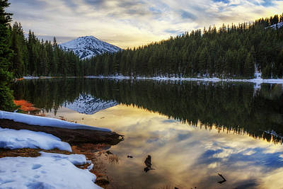 Photograph - Todd Lake Sunset by Cat Connor