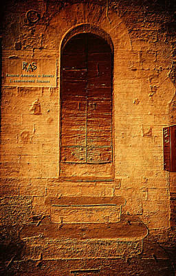 Photograph - Todi Italy Medieval Door  by Femina Photo Art By Maggie