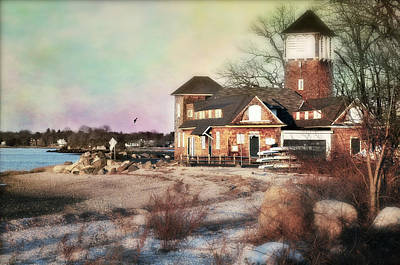 Connecticut Landscape Photograph - Tod's Point Beach House by Diana Angstadt