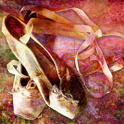 Shoe Digital Art - Toe Shoes by Barbara Berney