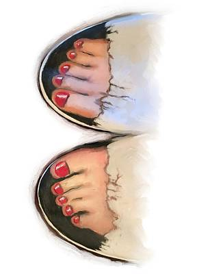 Toes 01 Art Print