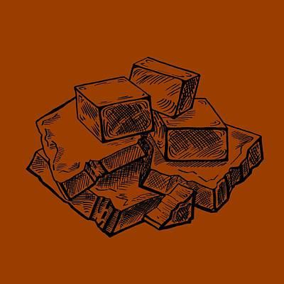 Painting - Toffee Fudge And Caramel  by Irina Sztukowski