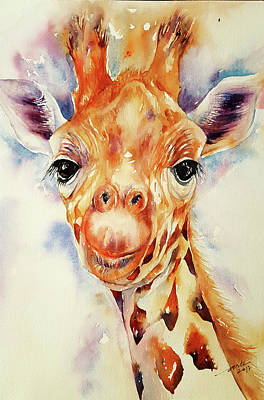 Painting - Toffee Giraffe by Arti Chauhan