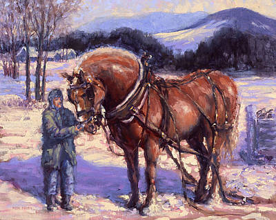 Painting - Toffiles Percheron by Ken Fiery