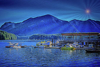 Digital Art - Tofino Harbor And Meares Island by Richard Farrington