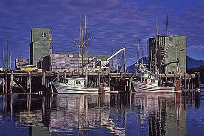 Digital Art - Tofino Harbor Thirty Years Ago by Richard Farrington