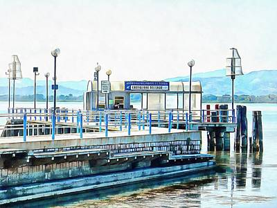 Photograph - Tofo Lamp Traps At Castiglione Del Lago Ferry Port by Dorothy Berry-Lound