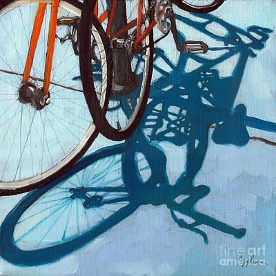 Together - City Bikes Art Print by Linda Apple