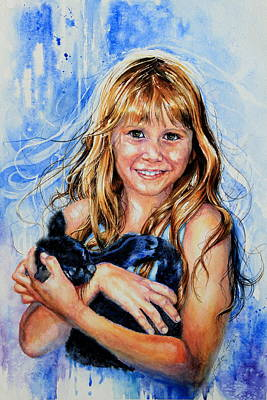 Action Portrait Painting - Together Again by Hanne Lore Koehler