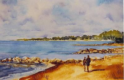 Together-at-georgian-bay Art Print by Nancy Newman