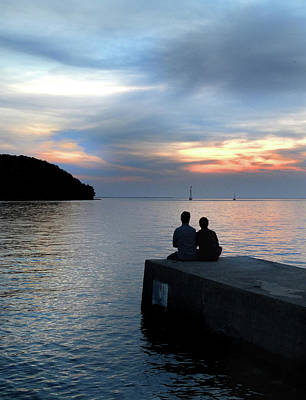 Bay Photograph - Together At Sunset by David T Wilkinson