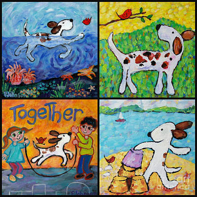 Painting - Together Collage By Peggy Johnson by Peggy Johnson