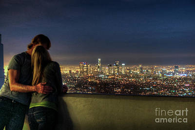 Photograph - Together Enjoying The Skyline View by David Zanzinger
