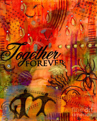 Mixed Media - Together Forever And Ever by Angela L Walker