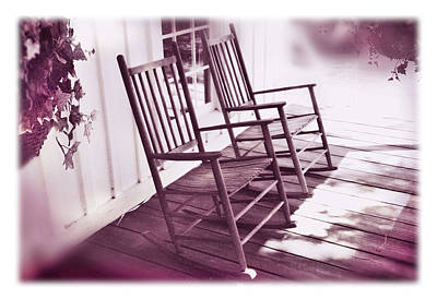 Rocking Chairs Photograph - Together Forever by Mal Bray