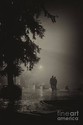 Photograph - Together In Fog by Hitendra SINKAR