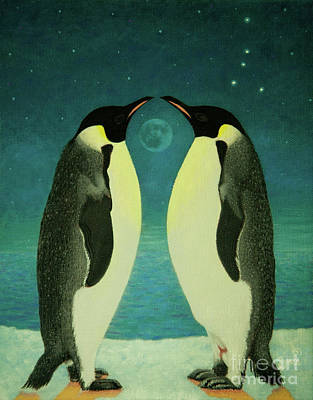 Together Under The Moon Art Print