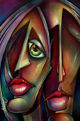 Urban Expressions Painting - 'together Watching' by Michael Lang