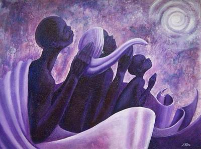 Painting - Together We Pray by Jerome White