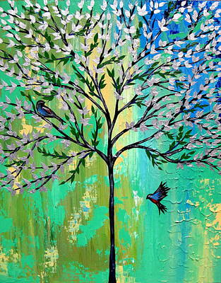 Tree Art Mixed Media - Together With You by Cathy Jacobs