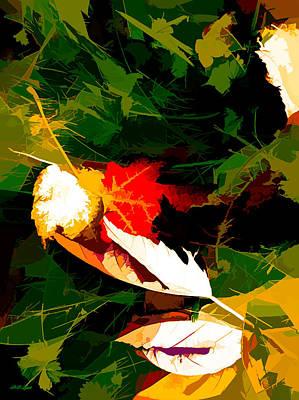 Maple Leaf Art Mixed Media - Togetherness by Debra Lynch